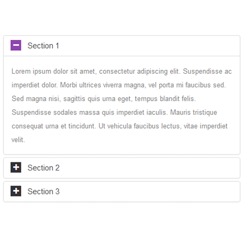 Bootstrap Accordion — стиль 11