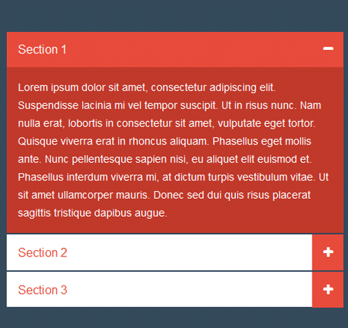 Bootstrap Accordion — стиль 6