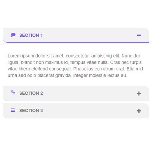 Bootstrap Accordion — стиль 22
