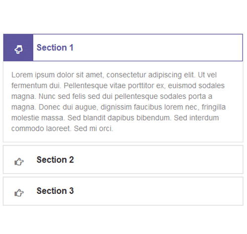 Bootstrap Accordion — стиль 31