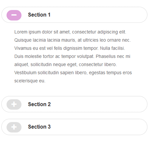 Bootstrap Accordion — стиль 34