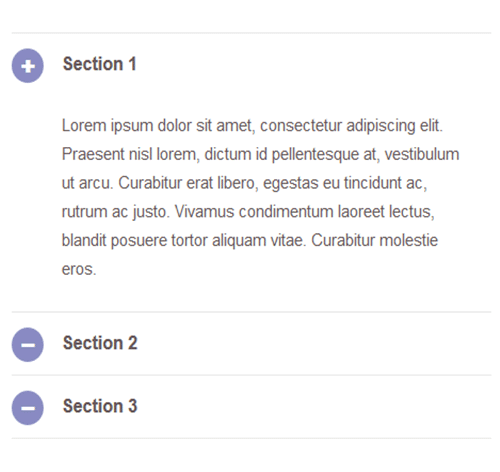 Bootstrap Accordion — стиль 51