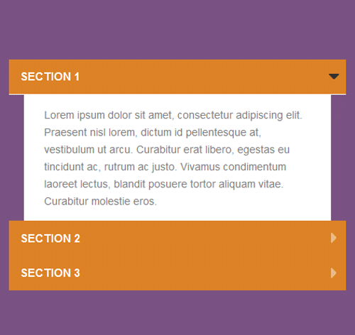 Bootstrap Accordion — стиль 53