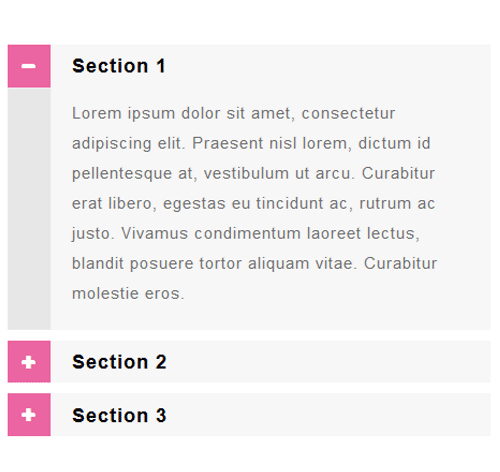 Bootstrap Accordion — стиль 72