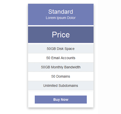 Pricing Table — стиль 2