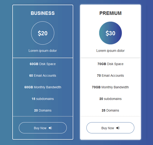 Pricing Table — стиль 24