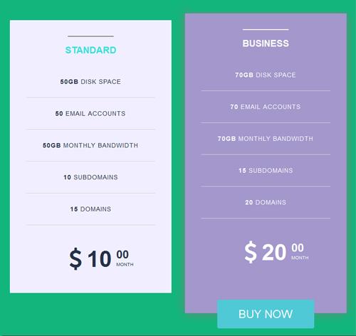 Pricing Table — стиль 25