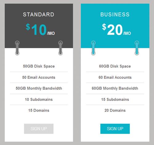 Pricing Table — стиль 35
