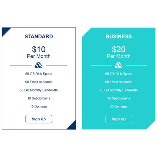 Pricing Table — стиль 69