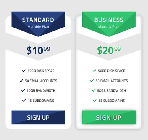 Pricing Table — стиль 97