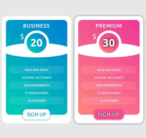 Pricing Table — стиль 98