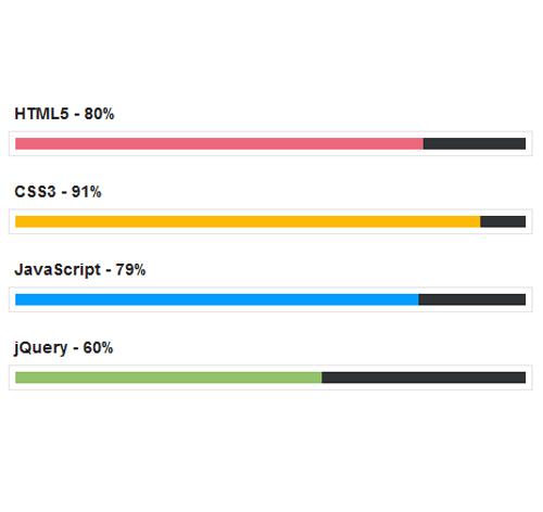 Bootstrap Progress Bar — стиль 18
