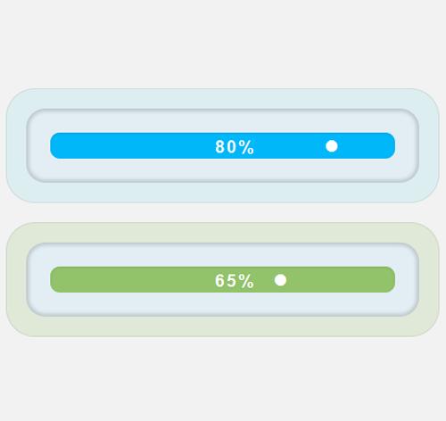 Bootstrap Progress Bar — стиль 30