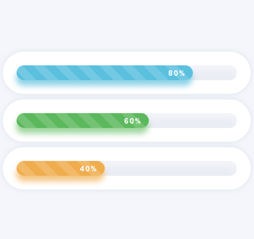 Bootstrap Progress Bar — стиль 31