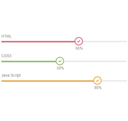 Bootstrap Progress Bar — стиль 32