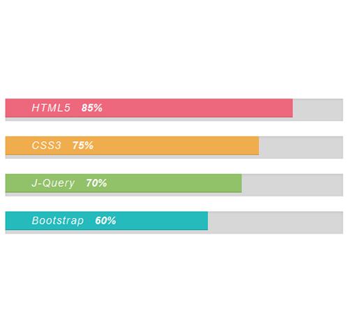 Bootstrap Progress Bar — стиль 38