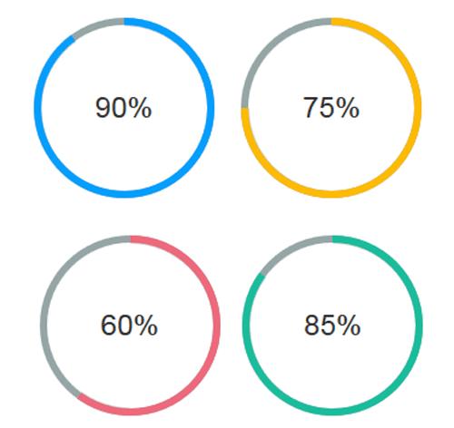 Circular Progress Bar with CSS : Demo 55