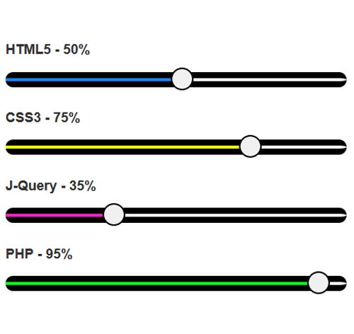 Bootstrap Progress Bar — стиль 78