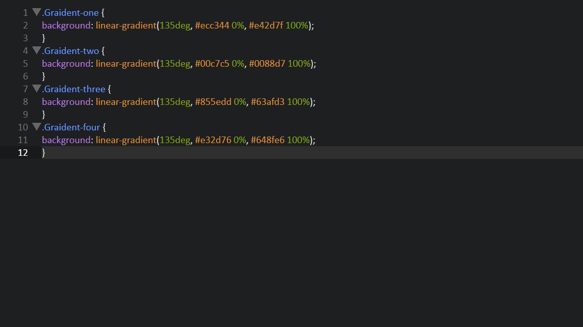 Градиент CSS, HTML