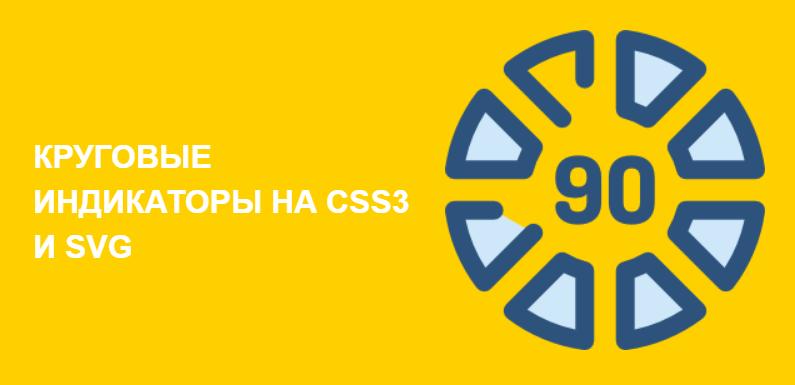 Круговые индикаторы. HTML & CSS