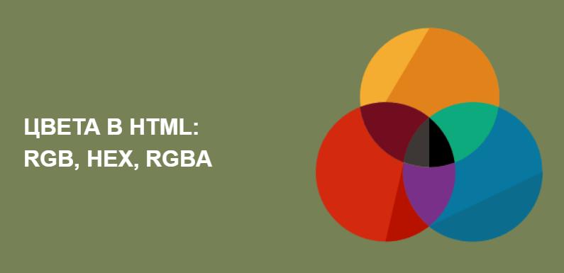 Цвета HTML: rgb, hex и прочие