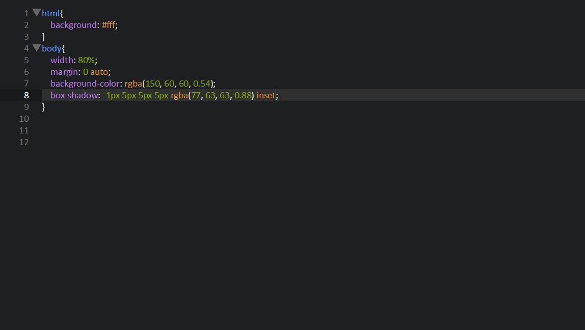 Внутренняя тень CSS
