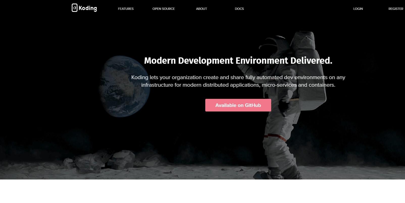 Modern Dev Environment Delivered · Koding - онлайн компилятор