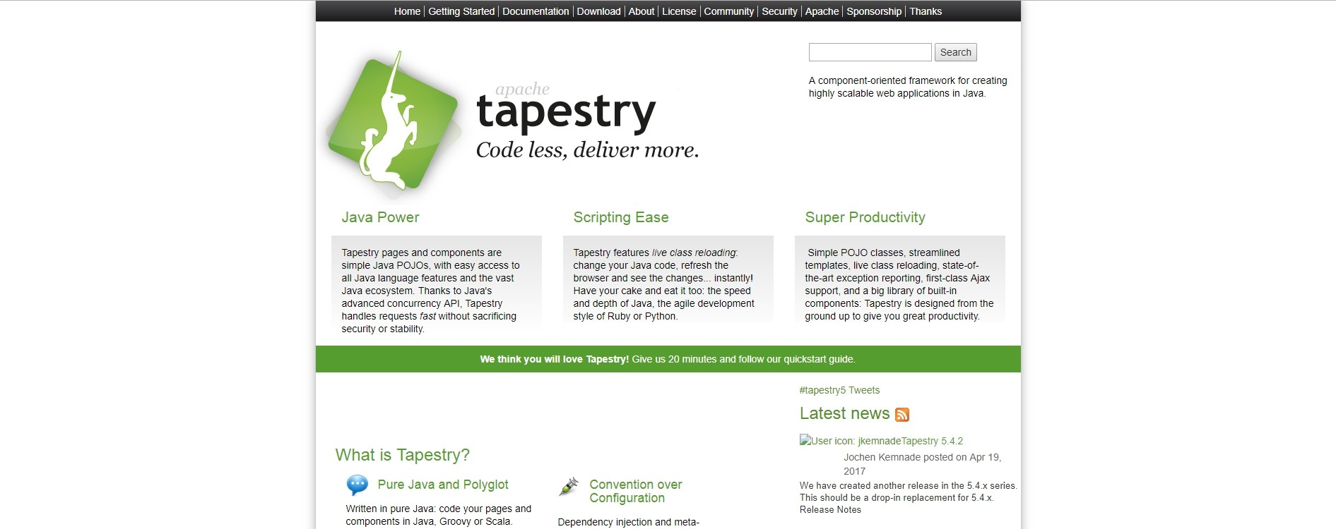 Apache Tapestry Home Page