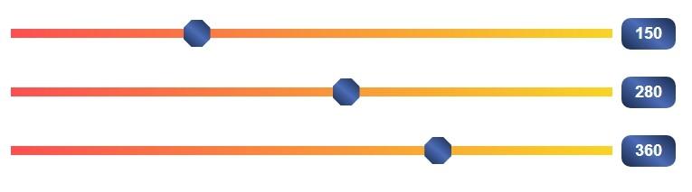 Bootstrap Range Slider — стиль 7