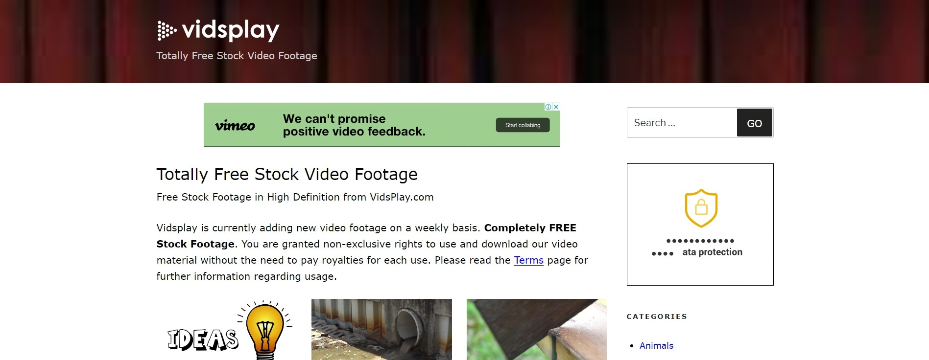 Totally Free Stock Video Footage - Vidsplay.com